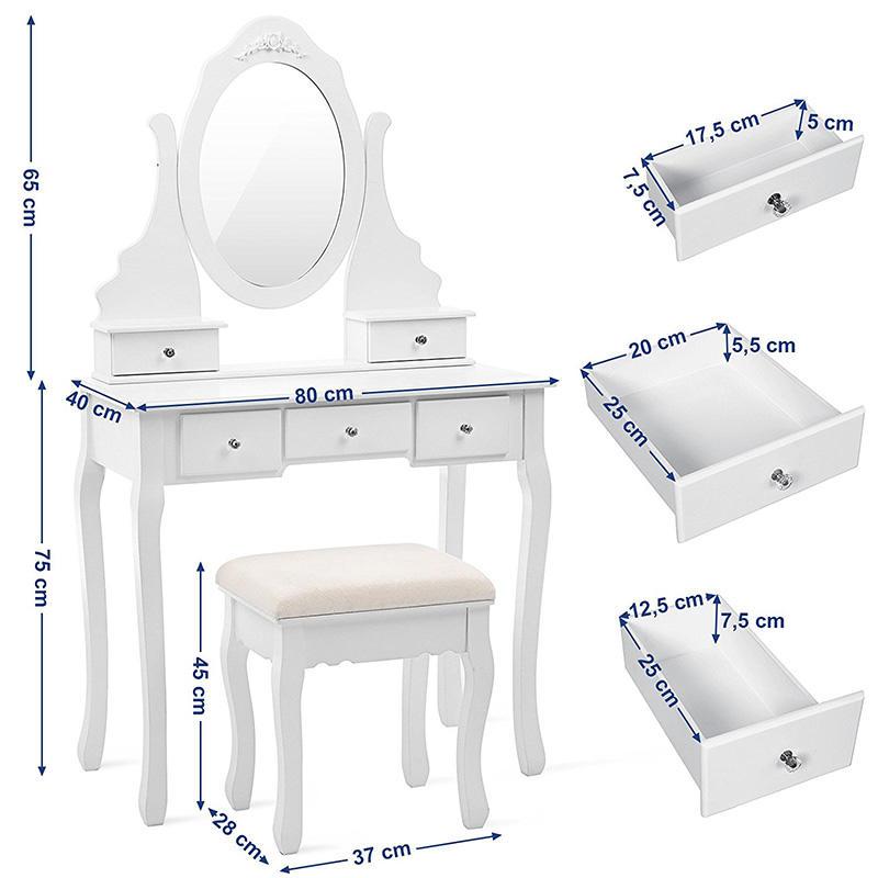 Masă de toaletă Elizabeth Charlotte